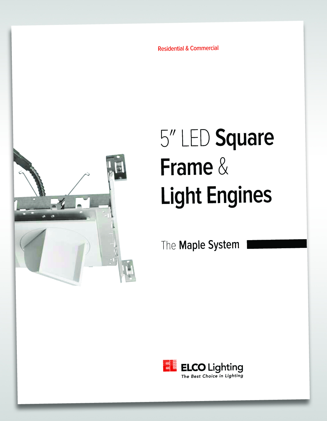 Elco announces super shallow 5 square led fixtures elco lighting the maple system 5 led square frames and light engines cat1038 elco lighting arubaitofo Gallery