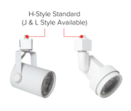 Connector standard as H Style. *Optional J and L Style*